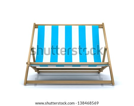 beach chair extra large, 3d illustration - stock photo