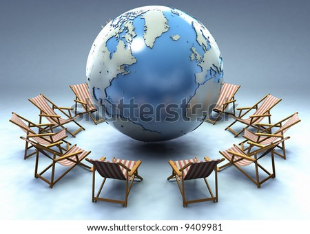 Beach chairs around the world