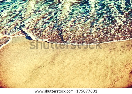 Beach coastline retro style  - stock photo