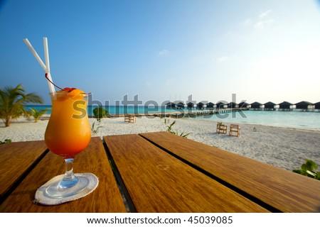 Beach Cocktail! - stock photo