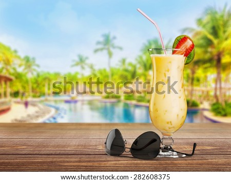 Beach, cocktail, drink. - stock photo