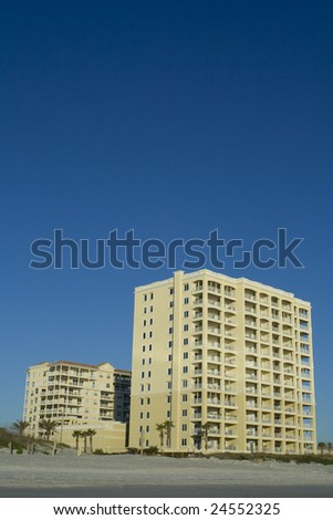 Beach Condos in Florida - stock photo