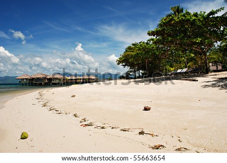 Beach Cottages on Water - stock photo