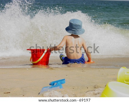Beach Days - stock photo