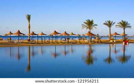 Beach, Egypt . - stock photo