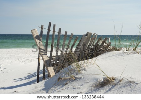 Beach fence near Pensacola Beach, Florida.