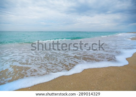 Beach, Florida, Wave. - stock photo
