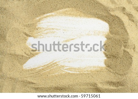 beach frame - stock photo