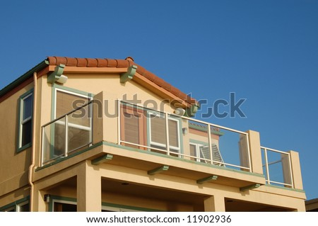 Beach-front vacation homes; San Diego, California - stock photo