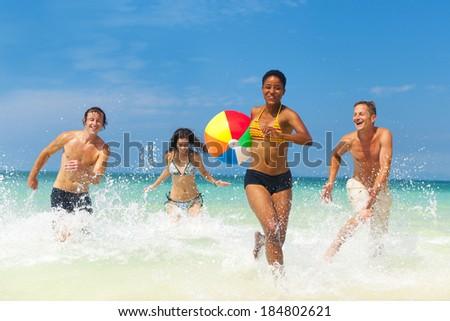 Beach Fun - stock photo