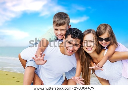 Beach, fun, holidays. - stock photo