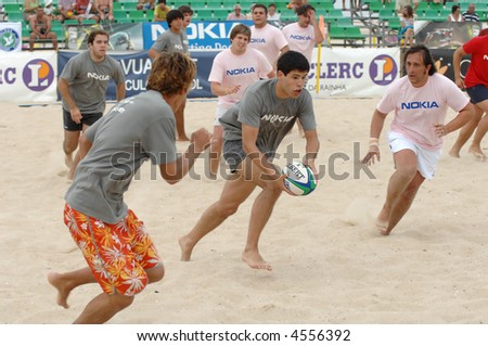 Beach games - Rugby 3th Beach Rugby 2007 (POR) - stock photo