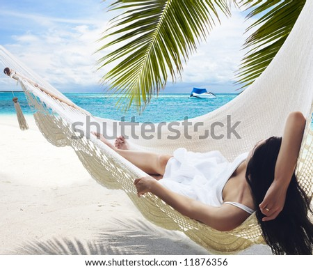 Beach Hammock - stock photo