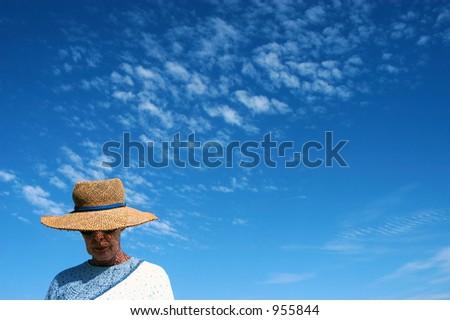 Beach Hat - stock photo