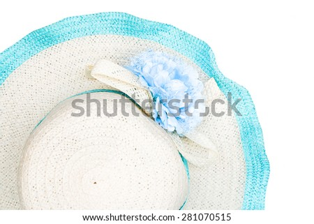 beach hat isolated on white background.