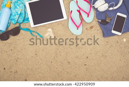 Beach header image - stock photo