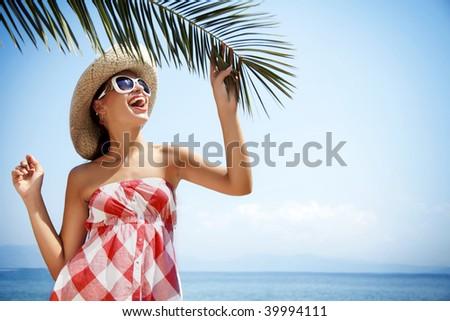 beach holiday - stock photo