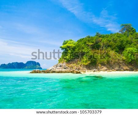 Beach Holiday Heavenly Blue - stock photo