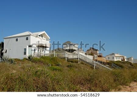Beach Homes Florida - stock photo