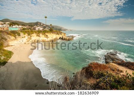 Beach house at Laguna Beach, California - stock photo