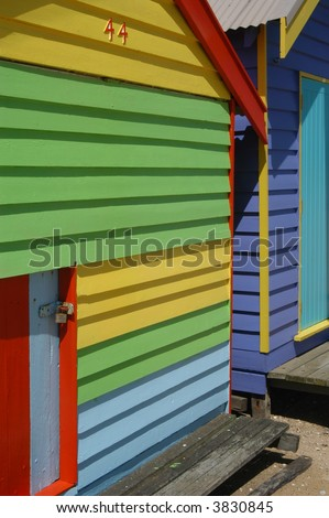 Beach House Close-up - stock photo