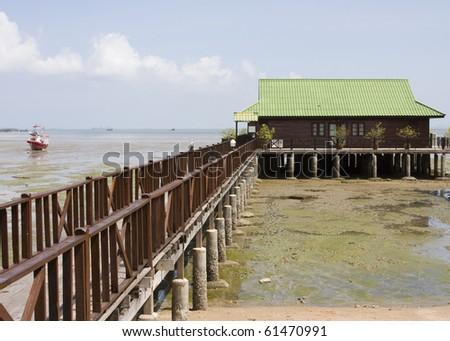 Beach house in Thailand - stock photo
