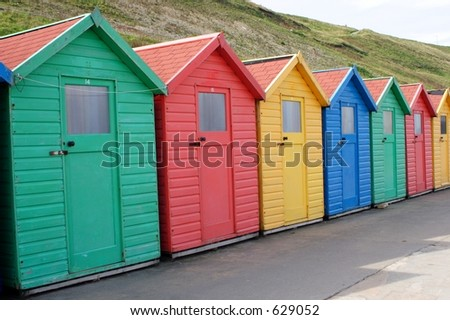 beach huts at Whitby England