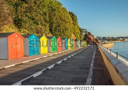 Beach huts Dawlish devon