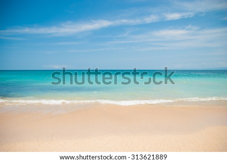 Beach in Bali called Dreamland. Shore line and wave - stock photo