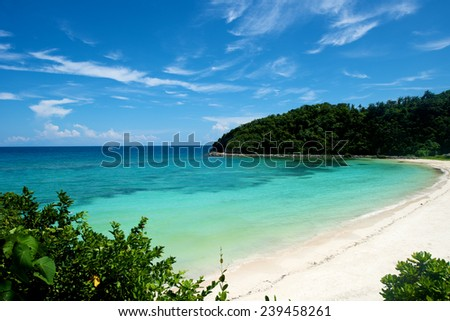 Beach in Boracay Island in the Philippines. - stock photo