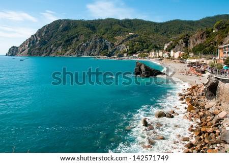 beach in cinque terre - stock photo