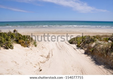 Beach in Coorong National park, Southern Australia - stock photo