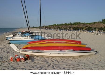 beach in Cuba - stock photo