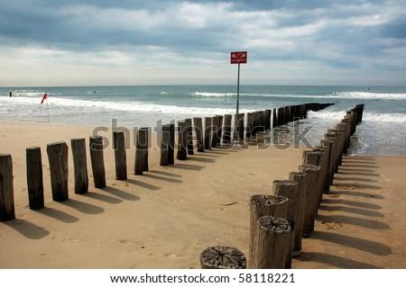 Beach in Domburg, the Netherlands - stock photo
