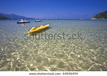 beach in Elba Island - stock photo