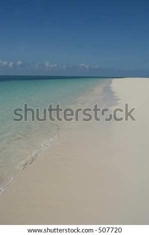 Beach in Freeport, Bahamas islands