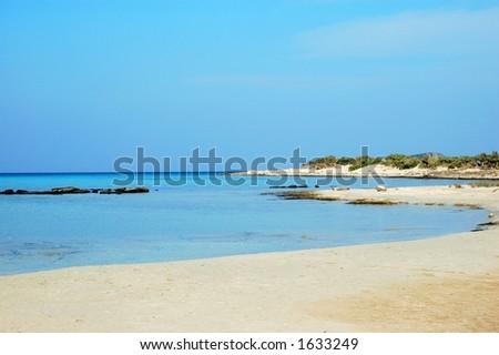Beach in Greece - stock photo