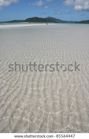 Beach in Hill's inlet on Whitsunday island off the Queensland coast of Australia - stock photo