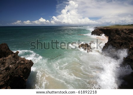 Beach in Indonesia - stock photo