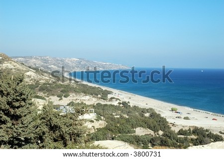beach in island Kos - stock photo