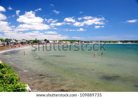 Beach in Kennebunkport, Maine, USA - stock photo