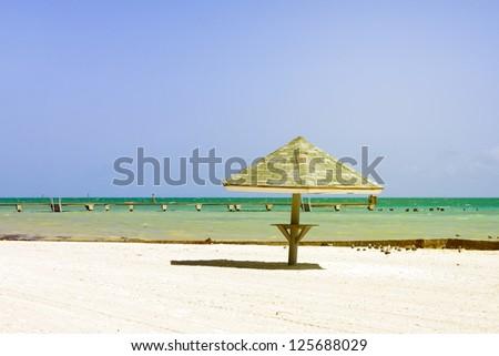 Beach in Key West Florida - stock photo