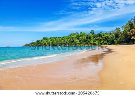 Beach in Khao Lak - stock photo