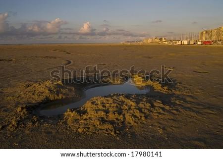 Beach in Knokke, Belgium - stock photo
