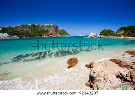 beach in Knysna, Western Cape, South Africa - stock photo