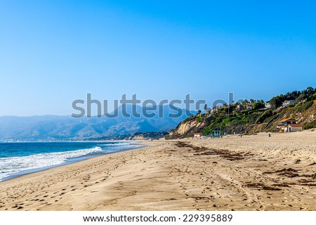 Beach in Malibu, California coastline, USA  - stock photo
