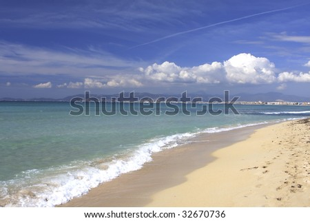 Beach in Mallorca Spain - stock photo