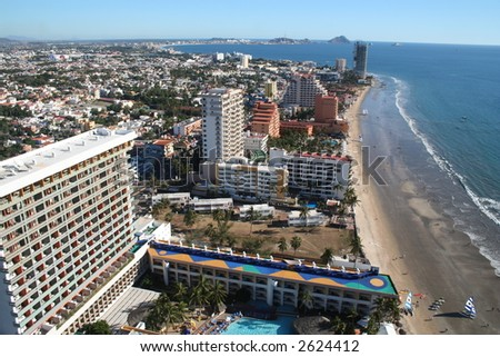 Beach in Mazatlan - stock photo