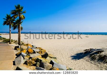 Beach in San Diego - stock photo