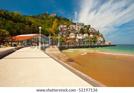 Beach in Spain - stock photo